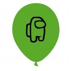 Воздушные шары Among Us 30 см зеленый