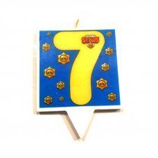 """Свеча для торта Бравл Старс """"Цифра 7"""" Brawl Stars"""