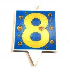 """Свеча для торта Бравл Старс """"Цифра 8"""" Brawl Stars"""