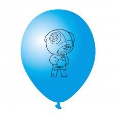 Воздушные шары Леон Leon Brawl Stars 30 см синий