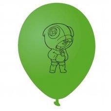 Воздушные шары Леон Leon Brawl Stars 30 см зеленый