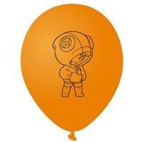 Воздушные шары Леон Leon Brawl Stars 30 см оранжевый