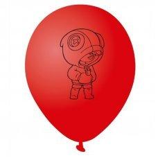 Воздушные шары Леон Leon Brawl Stars 30 см красный