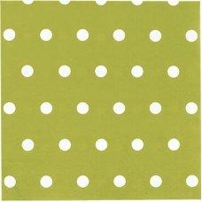 "Салфетки ""Горошек"" Brawl Stars светло-зеленые - 12 шт."