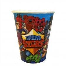 """Бумажные стаканы """"Персонажи"""" Brawl Stars  - 10 шт."""