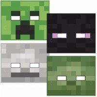 Набор из 4 масок Майнкрафт
