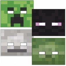 Набор из 4 масок Майнкрафт купить с доставкой