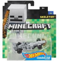 Коллекционная машинка Hot Wheels Mattel Minecraft Character Cars SKELETON Скелет