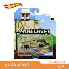 Коллекционная машинка Hot Wheels Mattel Minecraft Character Cars IRON GOLEM Железный Голем