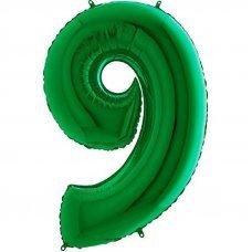 """Воздушный шар """"Цифра 9"""" 34''/86 см зеленый"""