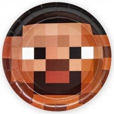 """Бумажные тарелки Minecraft """"Стив"""" - 6 шт."""