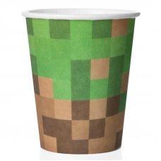 """Бумажные стаканы Minecraft """"Блок земли"""" - 6 шт."""