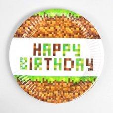 "Бумажные тарелки Minecraft ""Happy Birthday!"" -  10 шт."