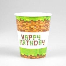 "Бумажные стаканы Minecraft ""Happy Birthday!"" - 10 шт."
