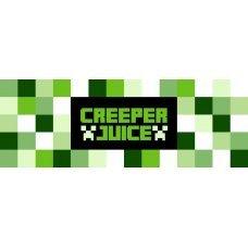 """Этикетки-наклейки на бутылки """"Creeper Juice"""" Майнкрафт - 5 шт."""