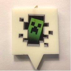 """Свеча для торта Майнкрафт """"Крипер из стены"""" Minecraft"""