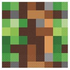 """Салфетки """"Пиксели Майнкрафт"""" - 16 шт."""