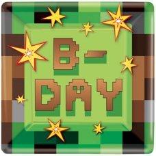 "Бумажные тарелки Minecraft ""TNT Party B-day"" - 8 шт."